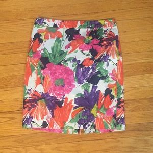 J Crew flower pencil skirt